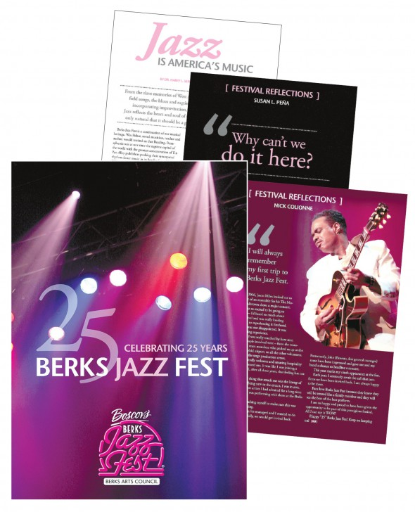 'Celebrating 25 Years: Berks Jazz Fest' book available online