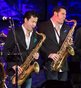 The Sax Pack: Steve Cole, Jeff Kashiwa, Jackiem Joyner